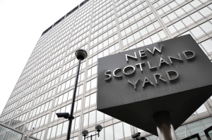 RAIDS ANTI-CORRUPTION DETECTIVES from the Met arrested two serving police officers  suspected of selling confidential information to Jonathan Rees and Mirror group journalist Doug Kempster. Photo: Rebecca Television