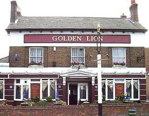 GOLDEN LION THE PUB in Sydenham where the murder took place. The night before the murder, Daniel Morgan had met with Rees and Fillery.  Photo: PA
